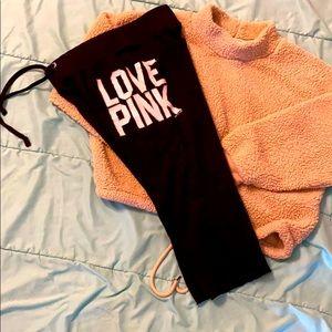 VS PINK sweatpants capris